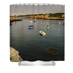 Shower Curtain featuring the photograph Rockport Gold by Mark Myhaver