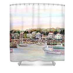 Rockport Harbor Ma Shower Curtain by Pamela Parsons