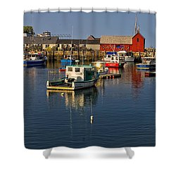 Shower Curtain featuring the photograph Rockport Harbor No.1 by Mark Myhaver