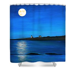 Rockport Harvest Moon Shower Curtain
