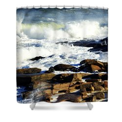Rockport Shower Curtain by Kenny Glotfelty