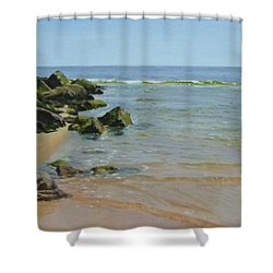 Rocks And Shallows Shower Curtain