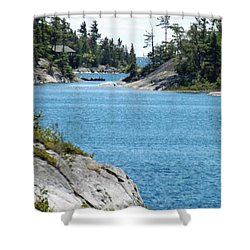 Rocks And Water Paradise Shower Curtain