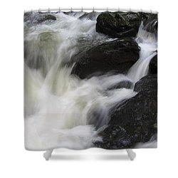 Rocks At Bushkill Shower Curtain by Richard Reeve