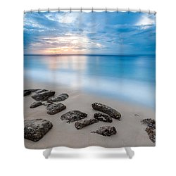 Shower Curtain featuring the photograph Rocks By The Sea by Mihai Andritoiu
