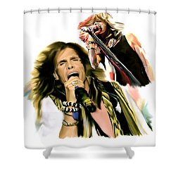 Rocks Gothic Lion II  Steven Tyler Shower Curtain by Iconic Images Art Gallery David Pucciarelli