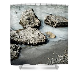 Rocks In The River Shower Curtain by Andrew Matwijec