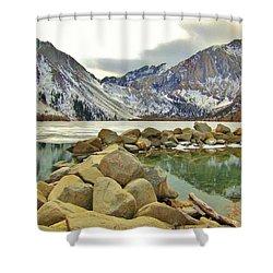 Rocks Shower Curtain by Marilyn Diaz