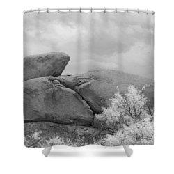 Rocks Under Ir Sky Shower Curtain