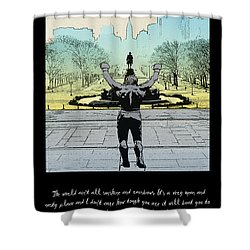 Rocky - All Sunshine And Rainbows Shower Curtain by Bill Cannon