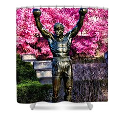 Rocky Among The Cherry Blossoms Shower Curtain by Bill Cannon