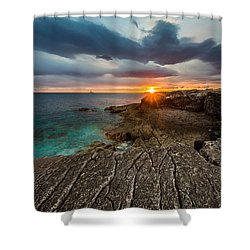 Rocky Beach II Shower Curtain by Davorin Mance