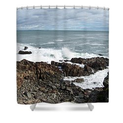 Rocky Coast Shower Curtain by Catherine Gagne