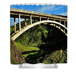 Rocky Creek Bridge Shower Curtain by Benjamin Yeager