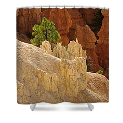 Shower Curtain featuring the photograph Rocky Embrace by Meghan at FireBonnet Art