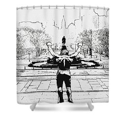 Rocky Is Philadelphia Shower Curtain by Bill Cannon