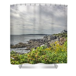 Shower Curtain featuring the photograph Rocky Maine Shoreline by Jane Luxton
