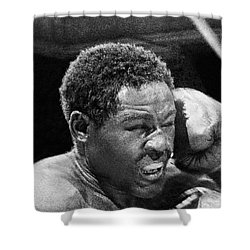 Rocky Marciano Fist Shower Curtain by Underwood Archives
