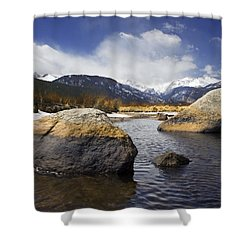 Rocky Mountain Creek Shower Curtain