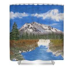 Rocky Mountain Creek Shower Curtain by Tim Townsend