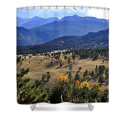 Shower Curtain featuring the photograph Rocky Mountain Evening by Nava Thompson