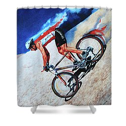Rocky Mountain High Shower Curtain by Hanne Lore Koehler