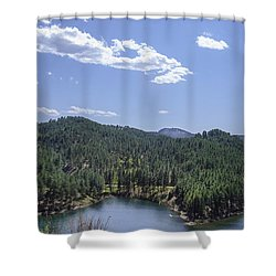Rocky Mountain Lake Shower Curtain