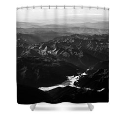 Rocky Mountain Morning Shower Curtain by John Daly