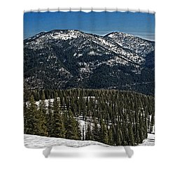 Shower Curtain featuring the photograph Rocky Mountain Top by Andy Crawford