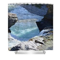 Elbow Falls Water  1.1 Shower Curtain