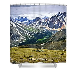 Rocky Mountains In Jasper National Park Shower Curtain by Elena Elisseeva