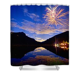 Rocky Mountains Private Fireworks Show Shower Curtain by James BO  Insogna