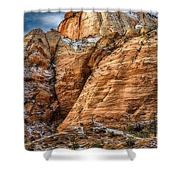 Rocky Peak Shower Curtain by Christopher Holmes