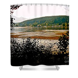 Shower Curtain featuring the photograph Rocky Point Port Moody by Sher Nasser