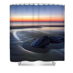 Rocky Pools Shower Curtain by Debra and Dave Vanderlaan