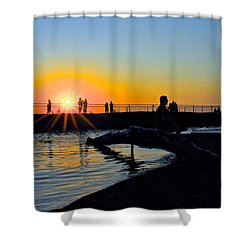 Rocky River Ohio Shower Curtain by Frozen in Time Fine Art Photography