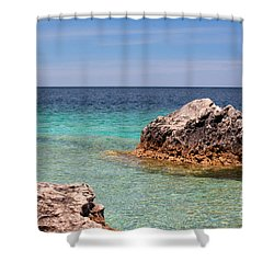 Rocky Shoals Of Tobermory Shower Curtain