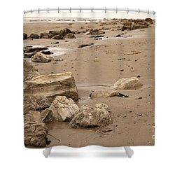 Rocky Shore Shower Curtain by Amanda Barcon