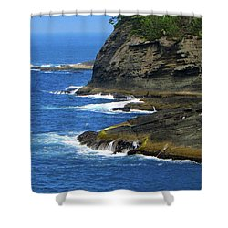 Shower Curtain featuring the photograph Rocky Shores by Tikvah's Hope