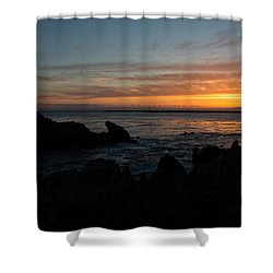 Rocky Sunset At Corona Del Mar Shower Curtain by John Daly