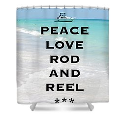Rod And Reel Restaurant Anna Maria Island  Shower Curtain by Margie Amberge