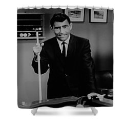 Rod Serling Shower Curtain by Rob Hans