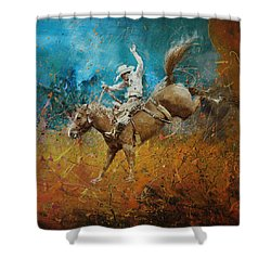 Rodeo 001 Shower Curtain by Corporate Art Task Force
