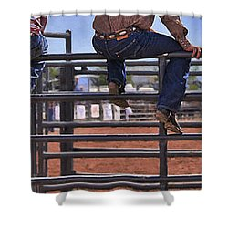 Rodeo Fence Sitters Shower Curtain