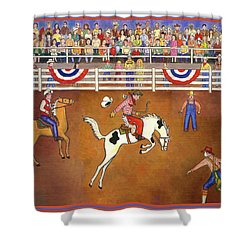 Rodeo One Shower Curtain by Linda Mears