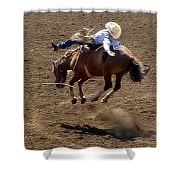 Rodeo Time Bucking Bronco 2 Shower Curtain