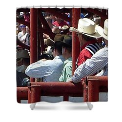 Shower Curtain featuring the photograph Rodeo Time Cowboys by Susan Garren