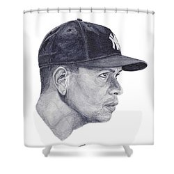 Shower Curtain featuring the painting Rodriguez by Tamir Barkan