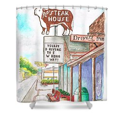 Rod's Steak House In Route 66 - Williams - Arizona Shower Curtain by Carlos G Groppa