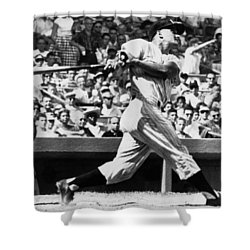 Roger Maris Hits 52nd Home Run Shower Curtain by Underwood Archives